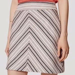 Ann Taylor LOFT Antique Chevron A-Line Tweed Skirt